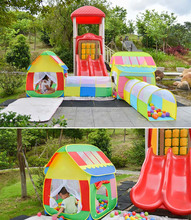 Kids Animal Indoor Outdoor Play Tent Pop Up Play House with Tunnel Combo