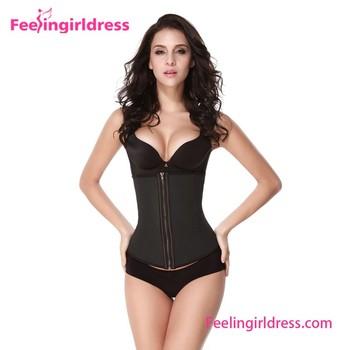 867b4fb8cc7bd Wholesale Sexy Women Body Shaper Latex Zipper Waist Training Corsets ...