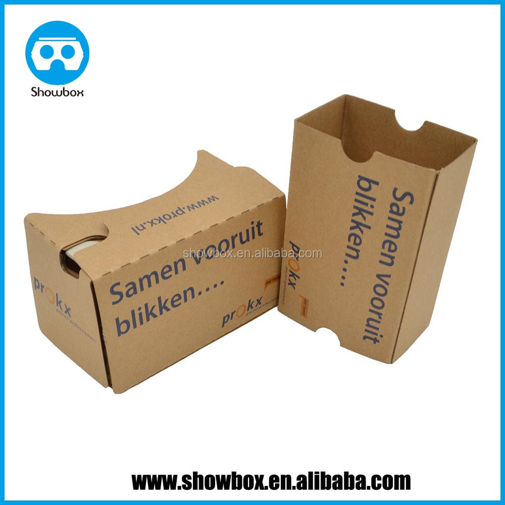 vr google cardboard company logo printing customization google vr v2.0 v1.0 promotion gift exhibition accessories