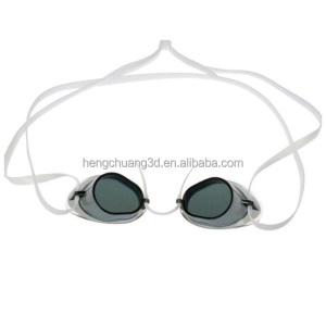 Custom Competition Swimming Goggles Best Waterproof Anti-fog Silicone Straps Racing Swim Glasses