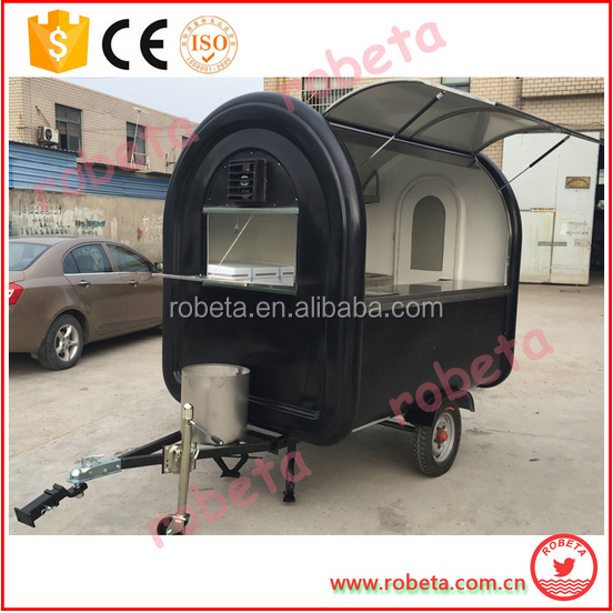 Practical and affordable color available Fiberglass Outdoor enclosed Food Trailer//whatsapp: 86-15803993420