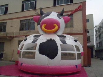 Moo-moo Cow Inflatable Bouncy Castle / Cattle Mini Bouncer Jumping Castle,