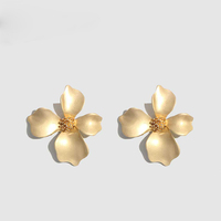 Kaimei Fashion Bohemian Wedding 2019 Flower Stud Earrings Jewelry Earrings for Women Luxury Colorful Big Pendant Earring