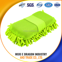 towel glove microfiber car cleaning towel 80% polyester and 20% polyamide OR 100% polyester azo free
