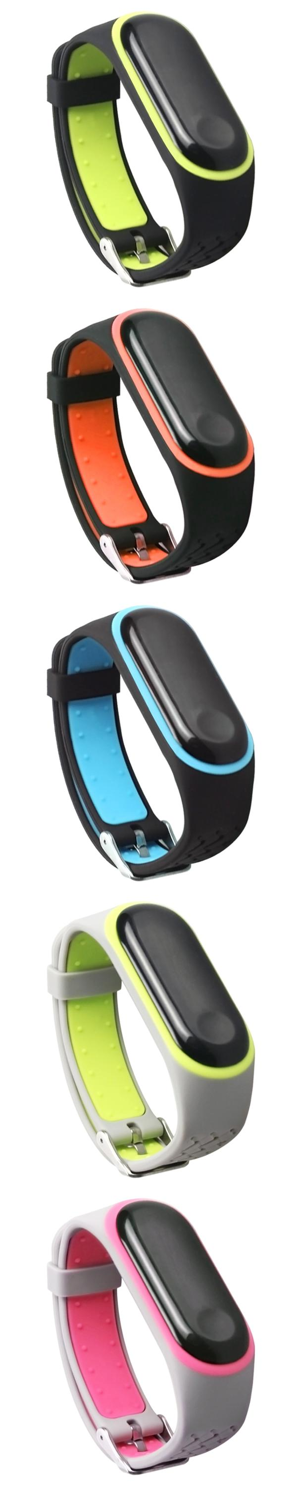 Factory Direct mi band 4 silicone watch strap smart watch band for Xiaomi Bracelet 3/4