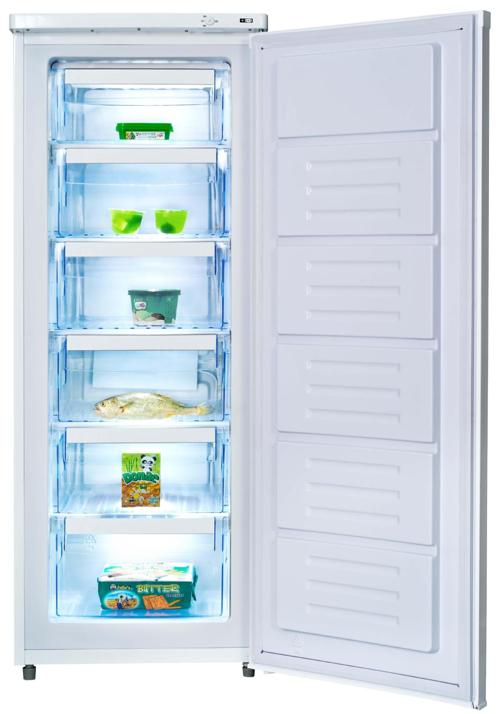 156l Frost Free Upright Deep Freezer Room With 5 Drawer