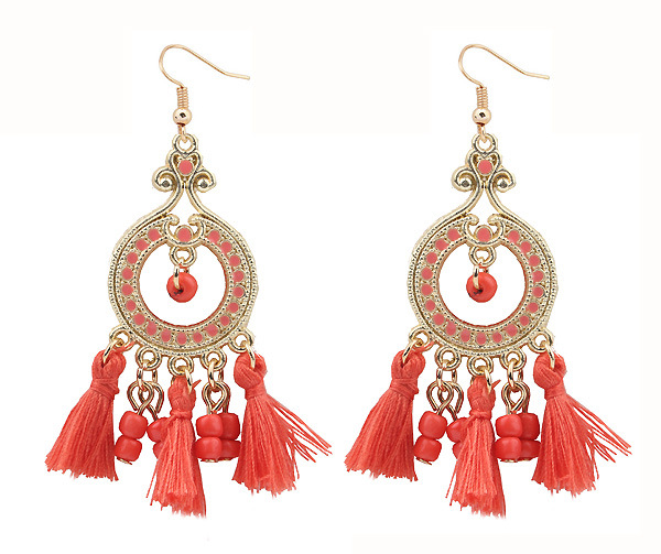 Handmade Colorful Tassel Earrings Ladies Earring Set New Designs Gold Jhumka Earring
