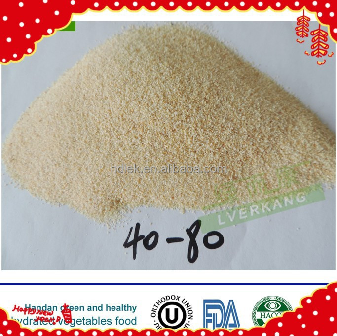 Natural dehydrated light yellow cheap dry garlic granules from Yongnian, China