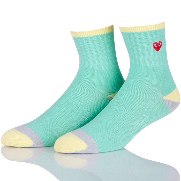 Colorful Heart Korean School Socks Cute
