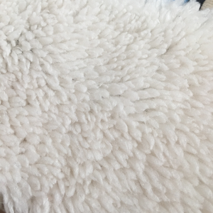 Global trade 100 polyester fleece teddy bear fur fabric plush fabric for making soft toys
