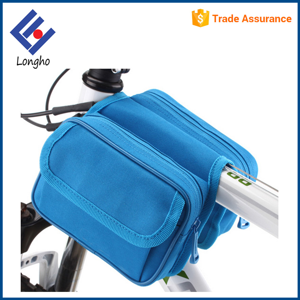 Top tube front saddle frame pouch triangle cycling bicycle frame bag, bicycle front bag