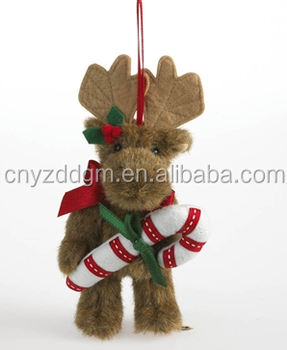 Wholesale Moose Plush Toys/custome Plush Moose With Candy Cane ...