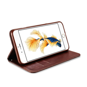 Luxury Leather Case For iPhone 5 6 6s Plus 7 8 8 plus X, Flip Book Case Card Slot Wallet Cover Magnet Phone Case