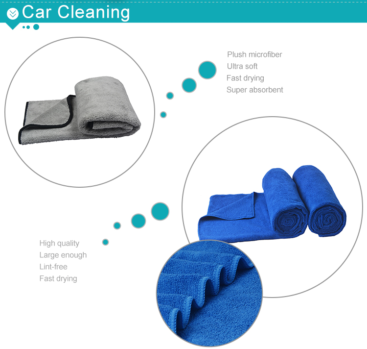 Sunland professional microfiber deerskin car cleaning towel