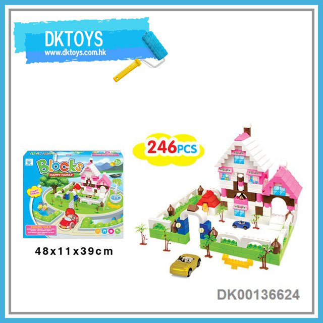 DIY educational building block villa type for kids