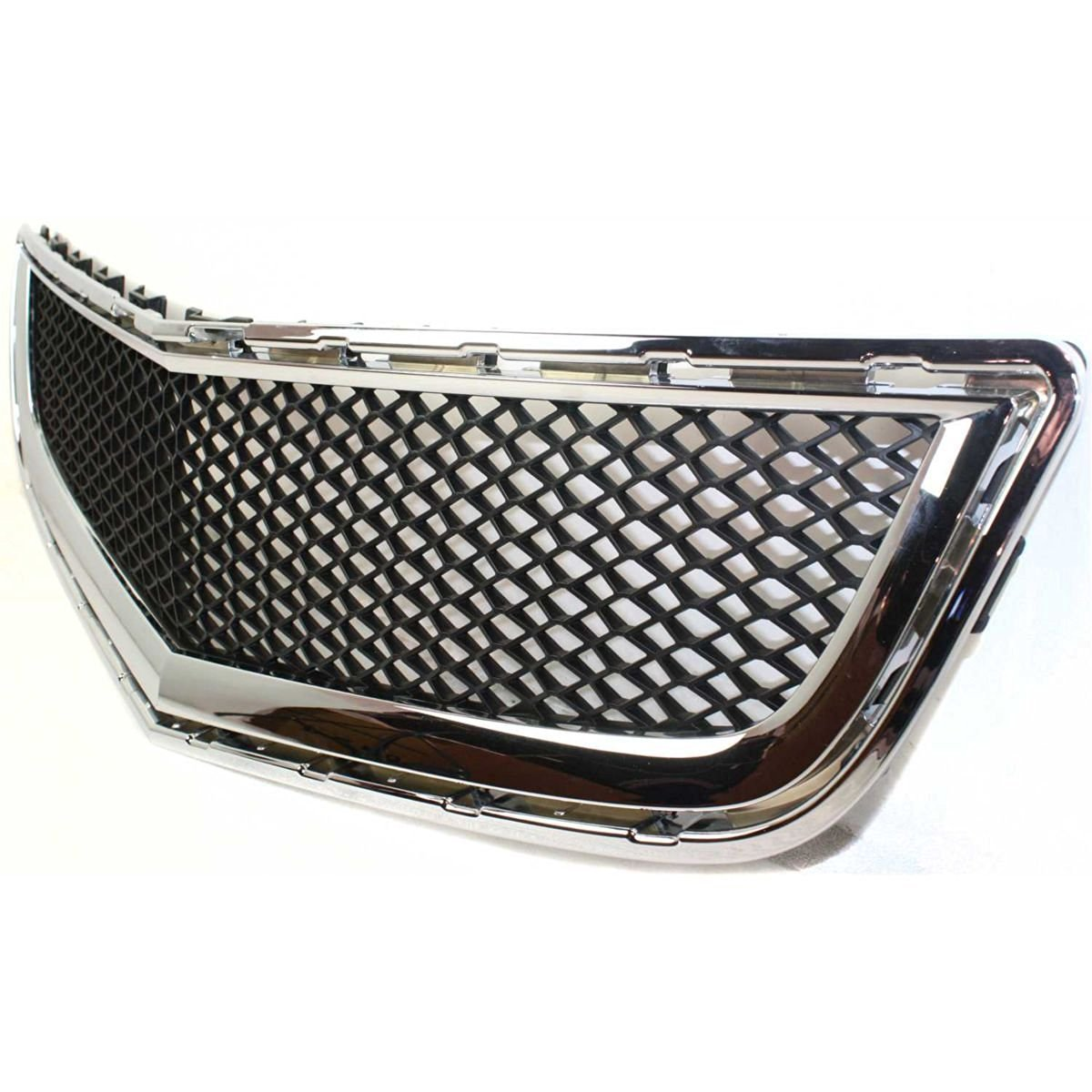 Diften 102-A4964-X01 - New Grille Assembly Grill Chrome shell black insert Traverse GM1036120 20756061