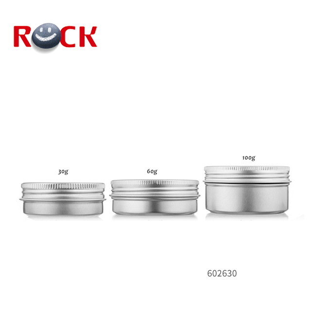 High Quality Silver Aluminum Jars Cosmetic Round Metal Tin Box