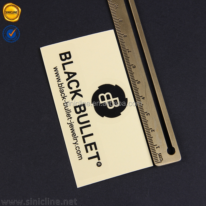 Sinicline 2016 rock bottom price clear transparent adhesive jewelry tags pvc sticker