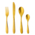 Hot sale gold dinnerware FREE SAMPLE for gold plated bulk flatware