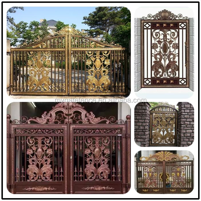 Wholesale Aluminum Garden Gates Main Gate Hinge Gates