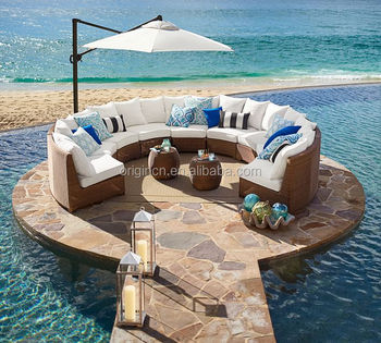 Sector Shape Patio Wicker Semi Circle Sectional Broyhill Outdoor Furniture