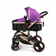 Luxury Aluminum Alloy golden baby stroller / Mother baby stroller bike/ 3 in 1 baby pram