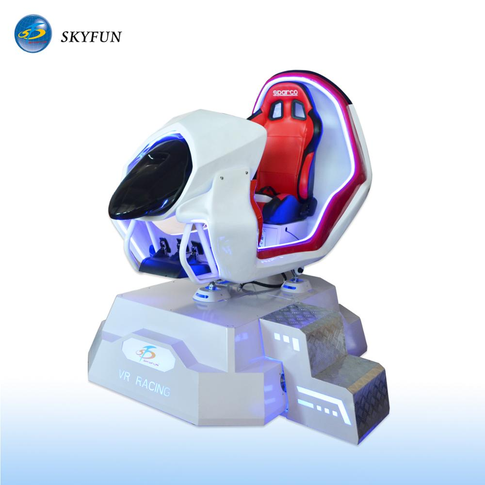 Skyfun super 9d virtual reality racing simulator car with games machine download free online