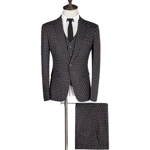New design formal coat 100%Wool 3 piece suit for man