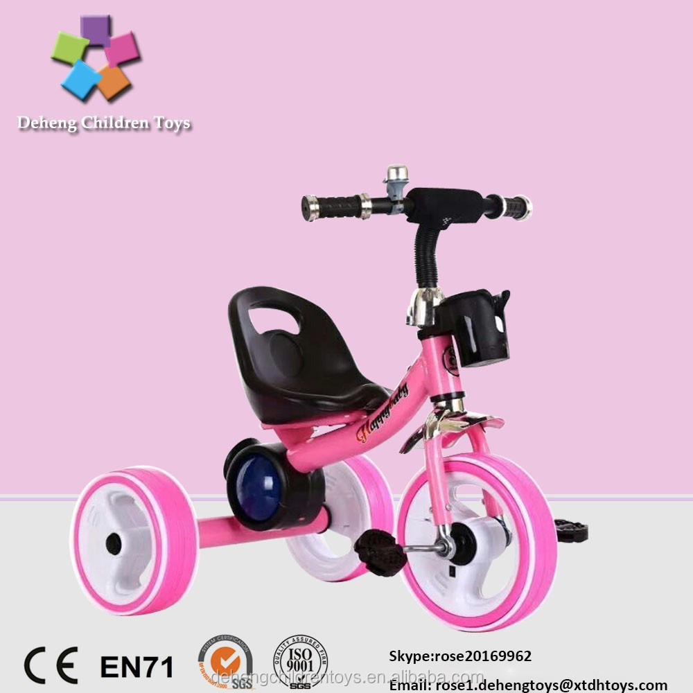 Hot sales children tricycle two seat with music flashing wheel