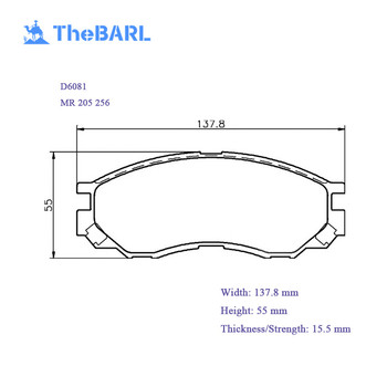 a-433wk d6081 mr 205 256 mr205256 chinese manufacturers auto parts braking  system car disc