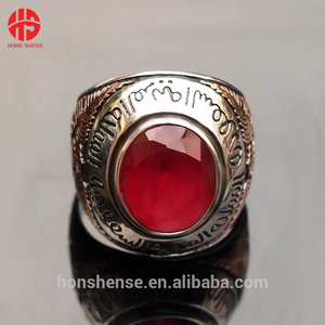 Fashion Rings Jewelry Red Agate Stone Ring Designs for Men Wholesale Silver Jewellery Online
