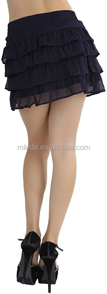 4072f66008 Cheap Wholesale Women's Ruffled Layered MiniSkirt Short Briefs Panty Skirts  Custom Made in China