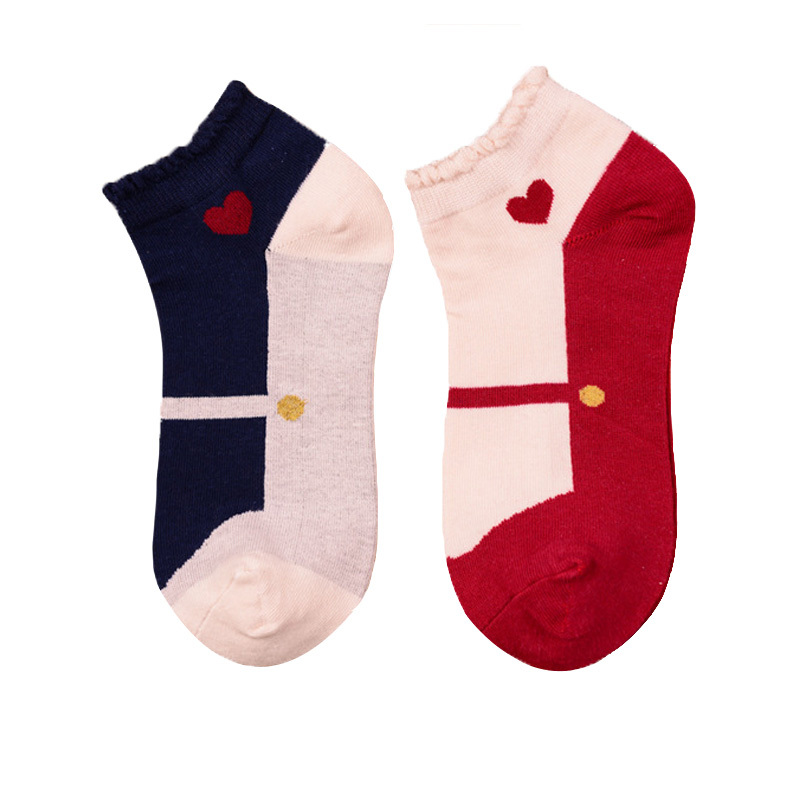 New 2015 Spring White Socks Female Mixed Colors Retro Embroidery Cotton Socks Women Summer Short Socks High Quality 4pair/lot