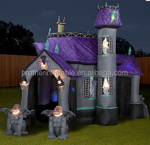 2016 lowes cheap outdoor halloween inflatable haunted house for sale