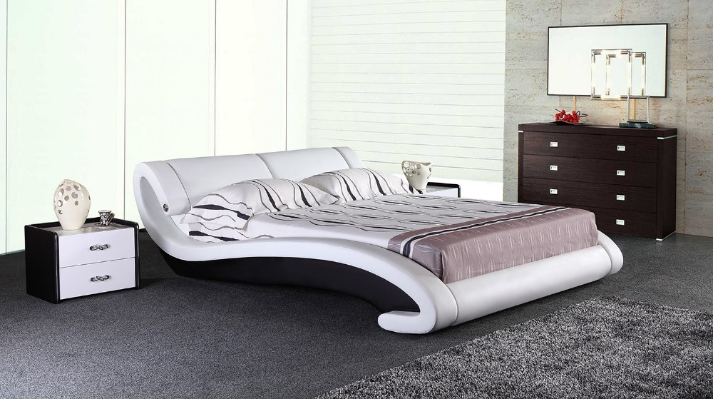 2016 NEW modern design bedroom round bed with music player for home use 6823#