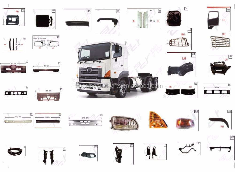 for 700 hino truck spare parts