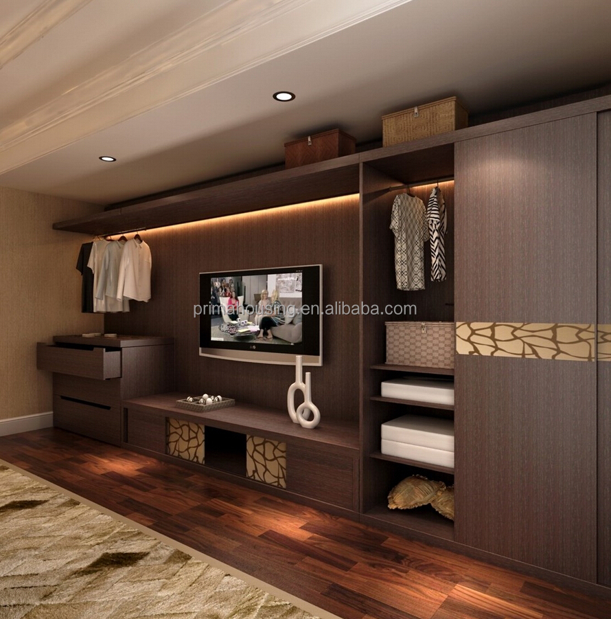 Bedroom closet wood built in wardrobe cabinet with sliding - Bedroom cabinets with sliding doors ...