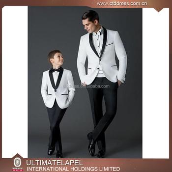 63d142701 2017 Custom niños esmoquin para la boda blanco trajes de boda para hombres
