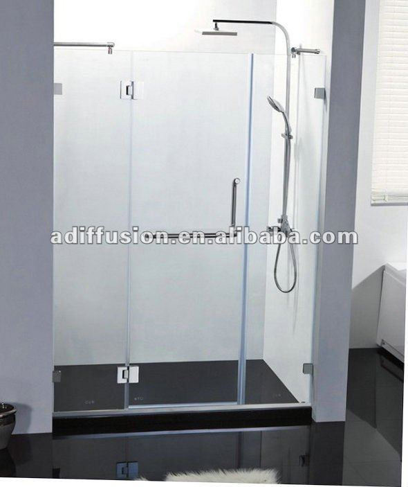 hinged glass frameless shower doors