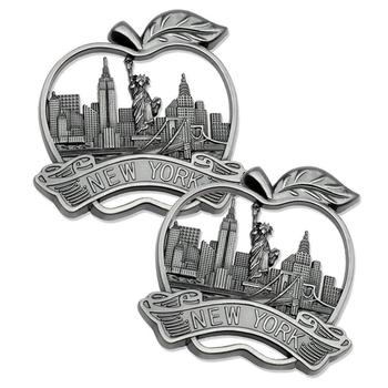 High quality custom metal apply alloy new york souvenir fridge magnet for sale