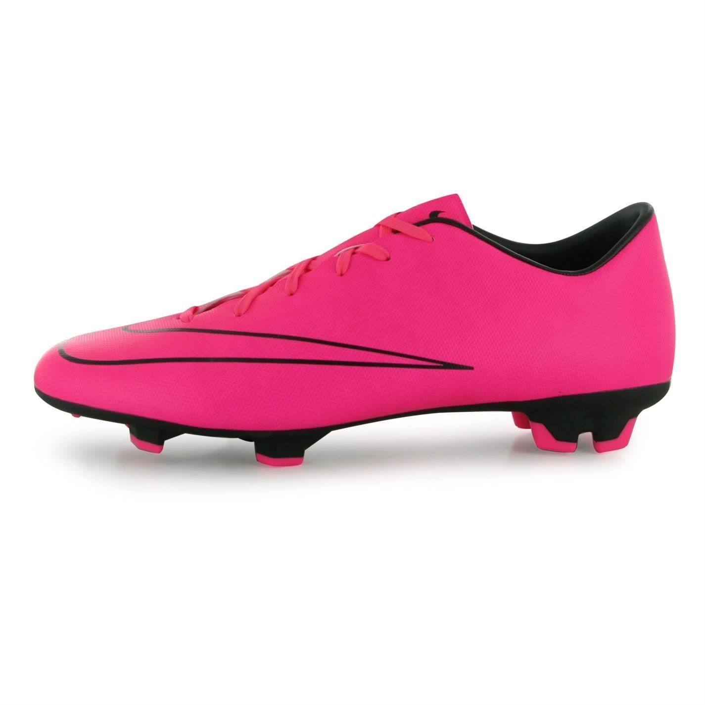 4a4292ac4b0 Get Quotations · Nike Mercurial Victory FG Firm Ground Football Boots Mens  Pink Soccer Cleats
