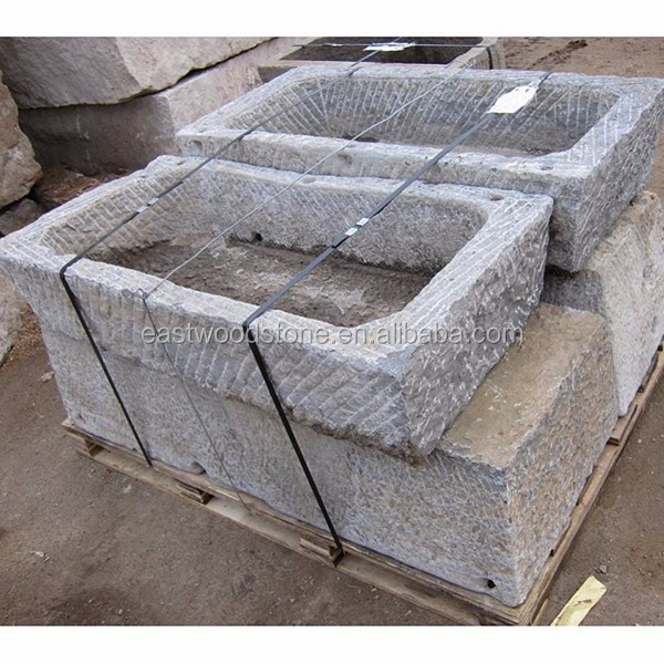 Natural Old Stone Trough Sink For Sale