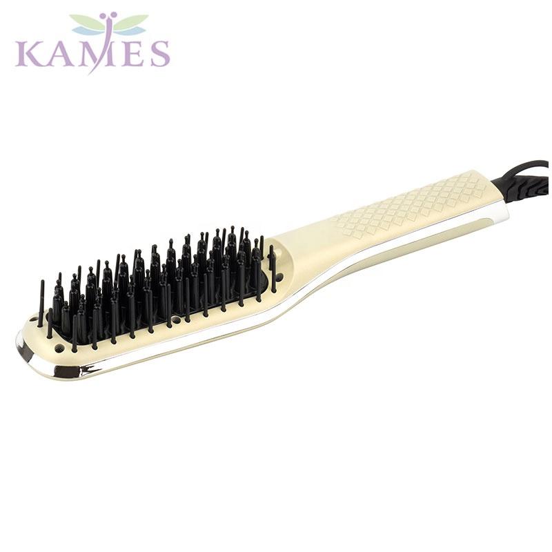 Ceramic MCH hair iron hair straightening brush ETL,TUV,PSE certificated