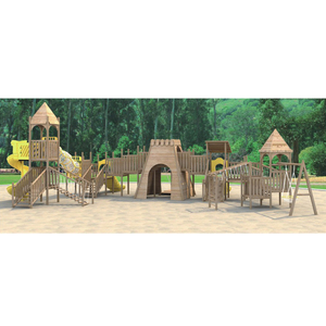 Best Quality Children Wooden Castle Park Wooden Play Tunnels Wooden Material Kids Playground Hfc 21602