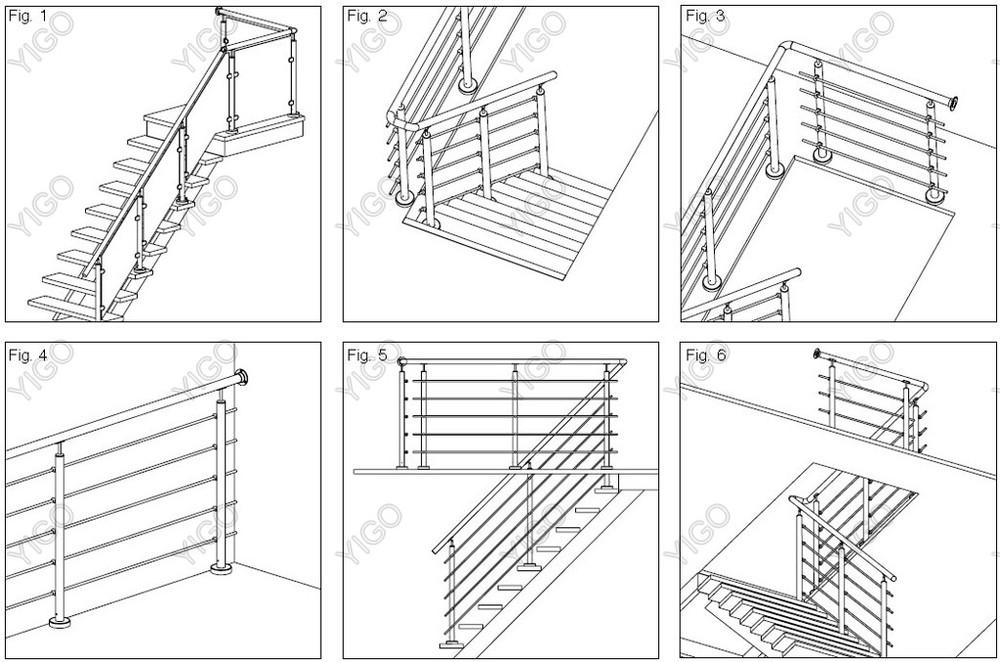 Al aire libre barandillas de escaleras precio metal al for Barandilla escalera exterior