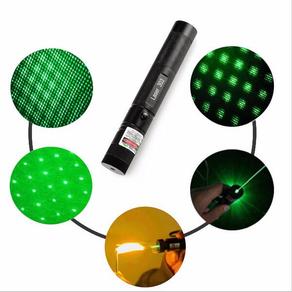 Hot Sale Military 2in1 Green Laser Pointer Pen 5mw Powerful Beam Light+Star Cap
