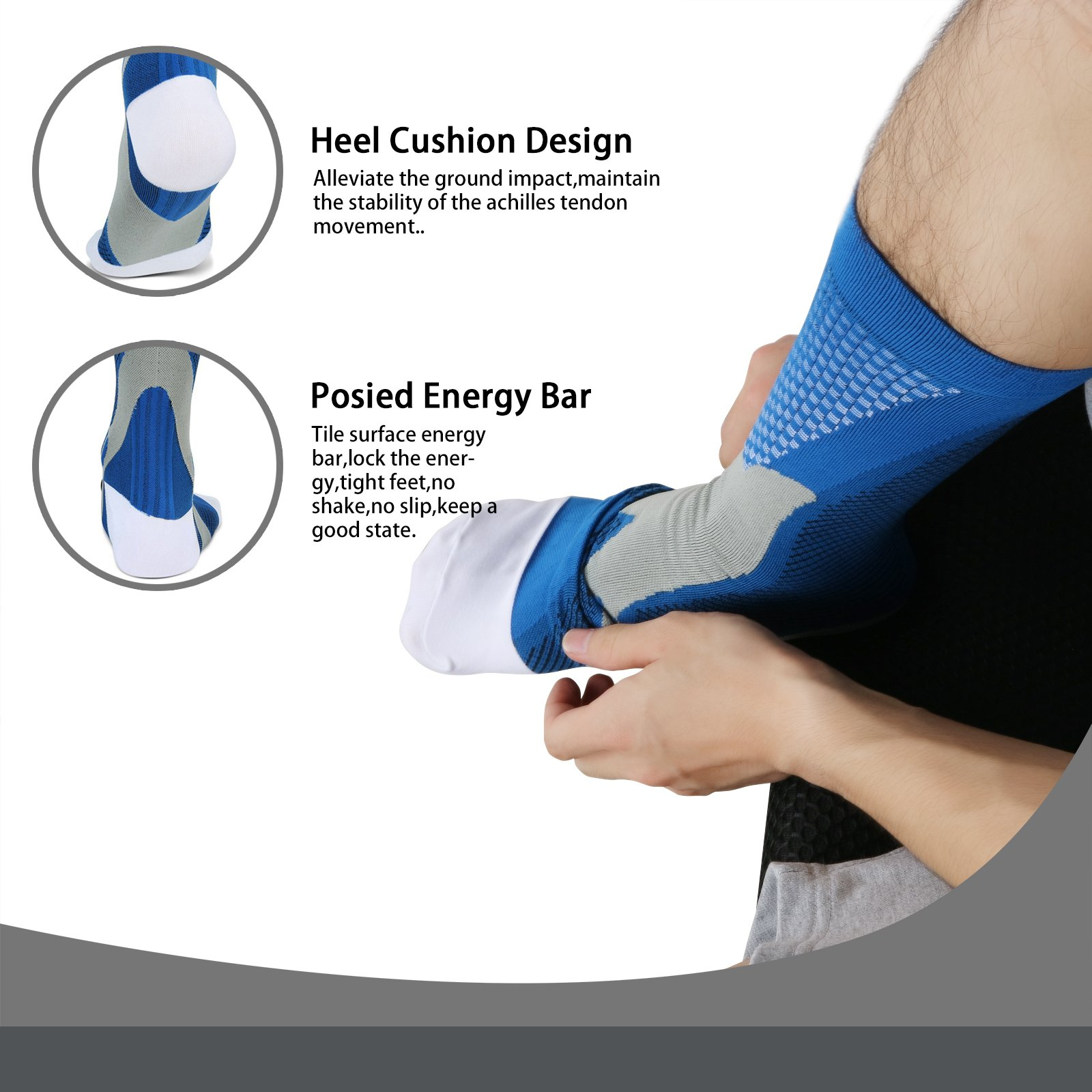 dec7a655ba Get Quotations · Compression Socks for Men & Women(2 Pairs), BEST Medical  Grade Graduated Recovery