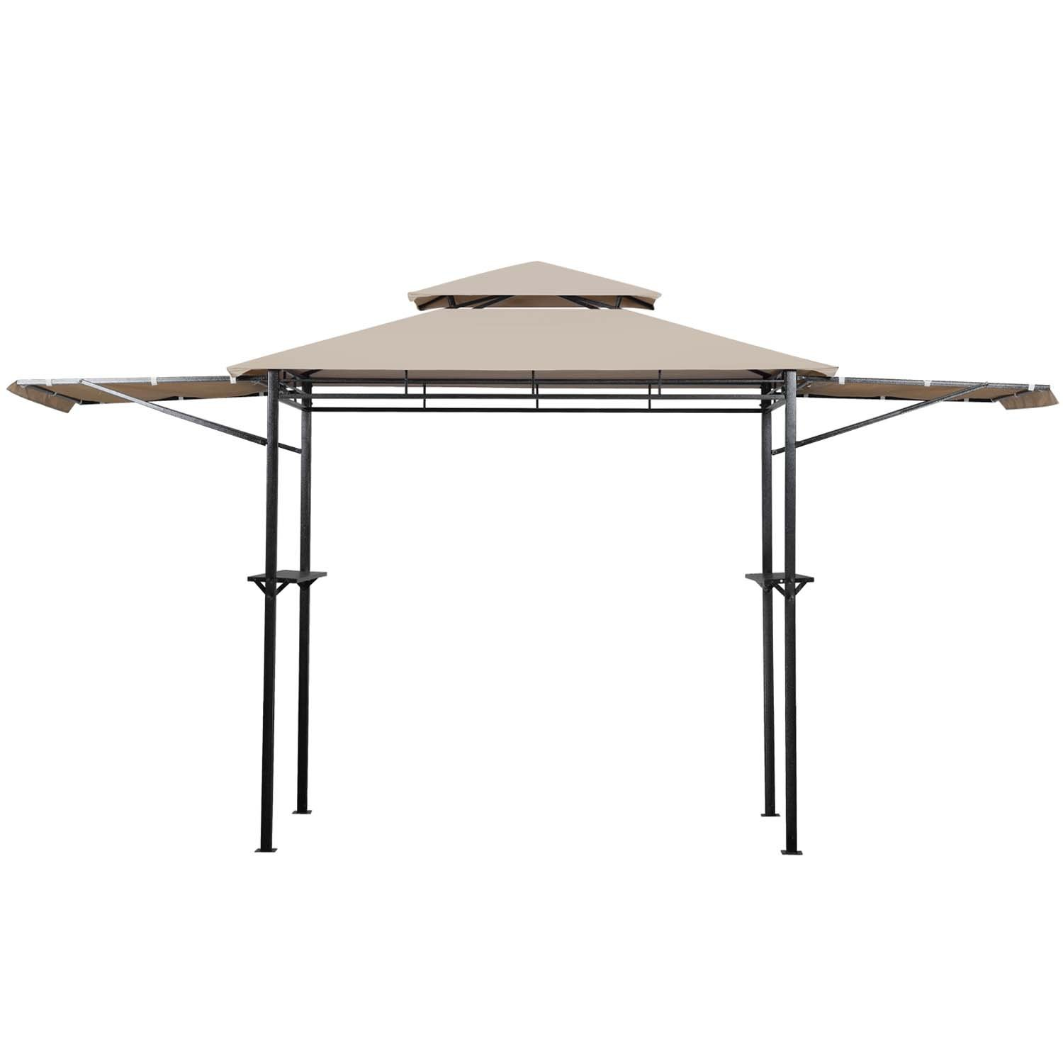 8' x 4' 2-Tier Grill Gazebo Canopy BBQ Outdoor Patio Shelter