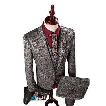 Wb160 Blazer Pants Vest Herren Anzug Hochzeit Vines Floral