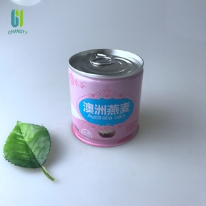 200ml hot sale food grade custom paint empty tin can with pull ring for canned food
